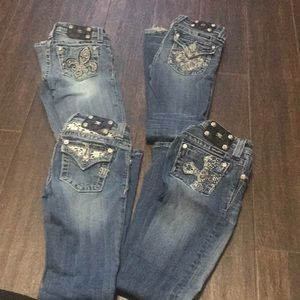 Miss me Jeans size 10 for girls